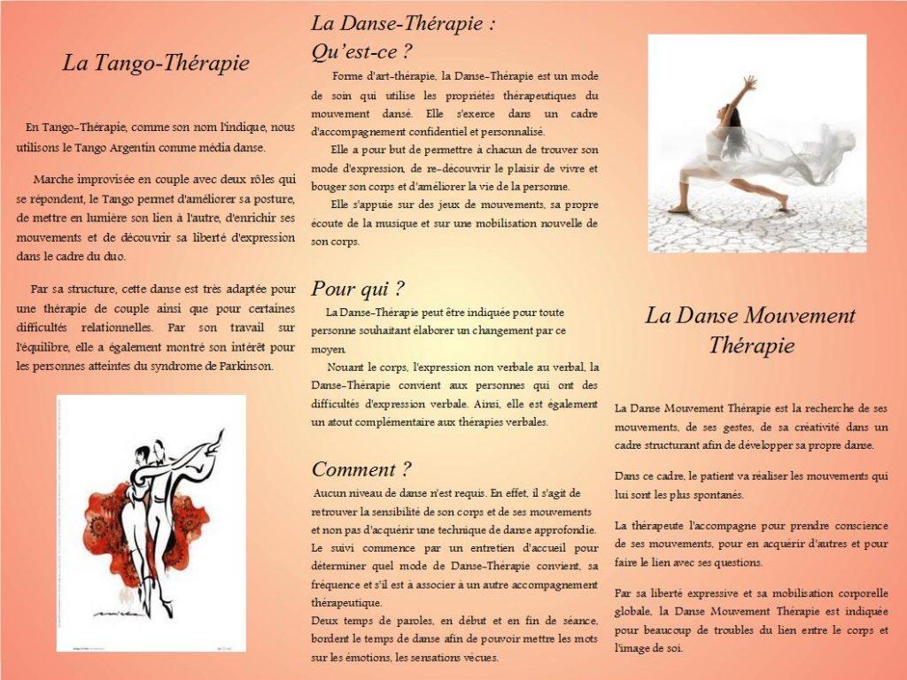 Danse-Thérapie sur Rennes et Saint-Malo : Présentation Danse Mouvement et Tango, et personnes accueillies (complément de thérapie verbale, troubles de l'expression, troubles du lien corps/image de soi, Syndrômes neurodégénératifs : Parkinson et Alzheimer, etc.)